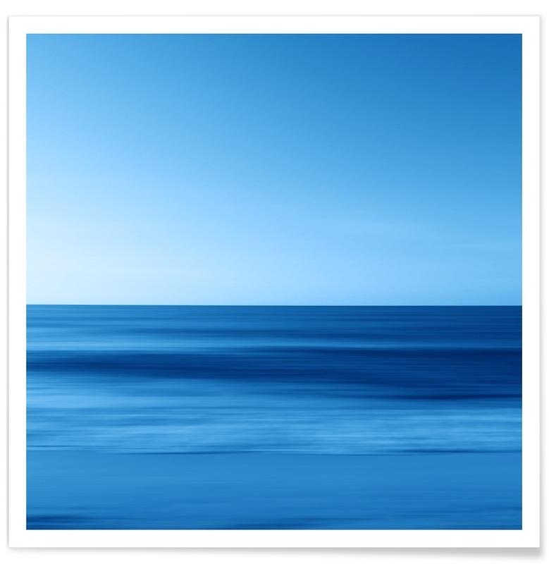 Paysages abstraits, Océans, mers & lacs, Seascape Blue Horizon affiche