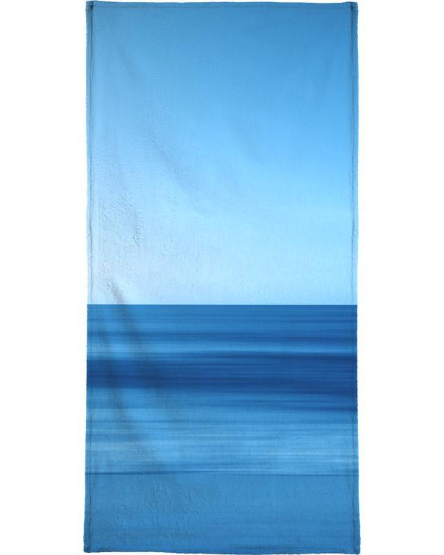 Abstract Landscapes, Ocean, Lake & Seascape, Seascape Blue Horizon Bath Towel