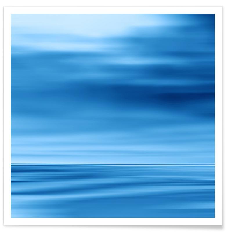 Seascape Blue Dune Poster