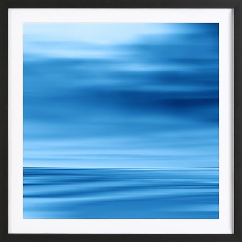 Seascape Blue Dune Framed Print
