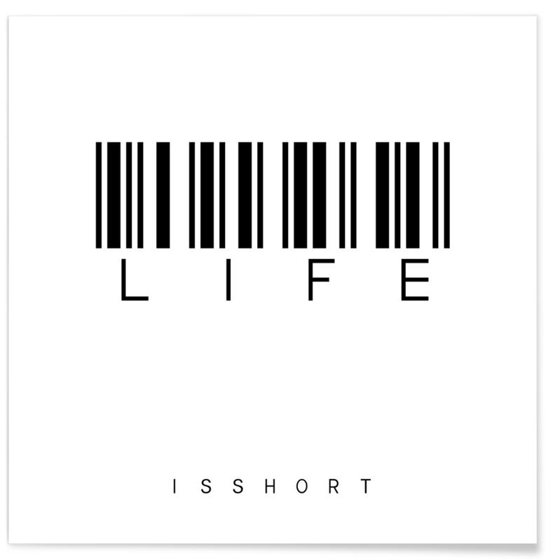 Life White Poster