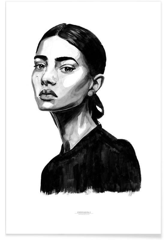 Noir & blanc, Portraits, Untitled 2 affiche