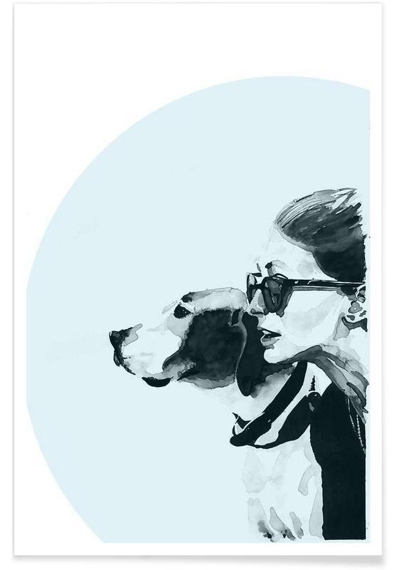 Portretten, Fashionable Blue poster