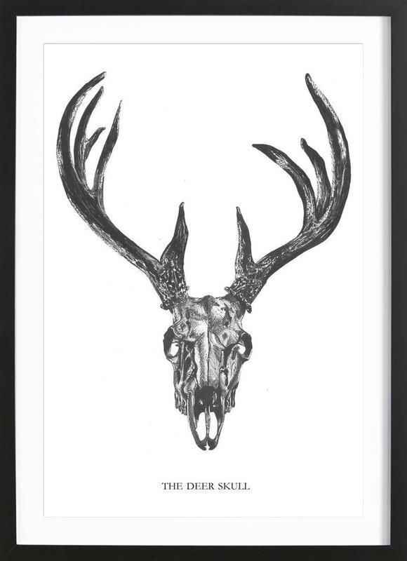 The Deer Skull -Bild mit Holzrahmen
