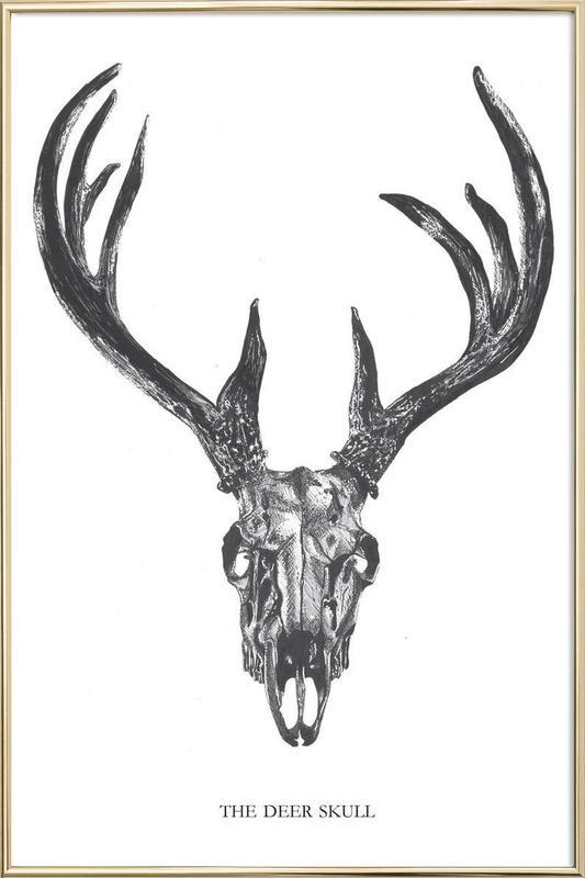 The Deer Skull Poster in Aluminium Frame