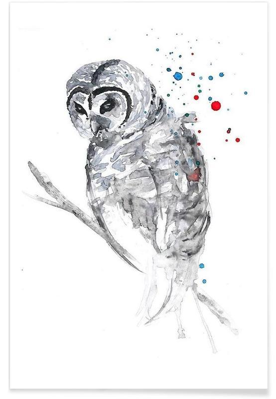 Noir & blanc, Winter Bird affiche