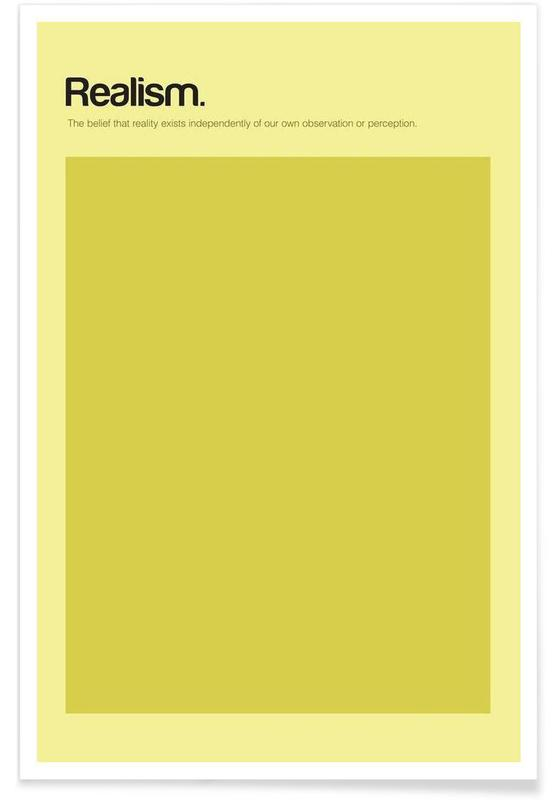 , Realism - Minimalistic Definition Poster