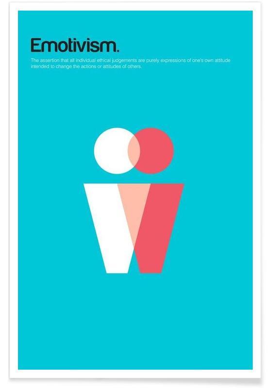 Emotivismus-Minimalistische Definition -Poster