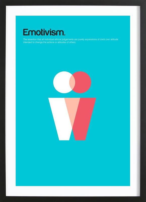 Emotivism -Bild mit Holzrahmen
