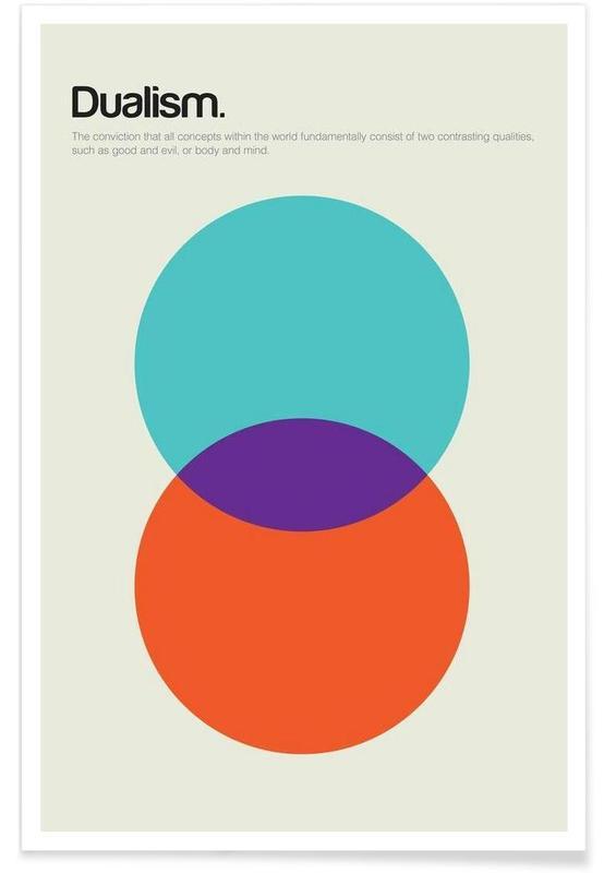 , Dualisme - Definition minimaliste affiche