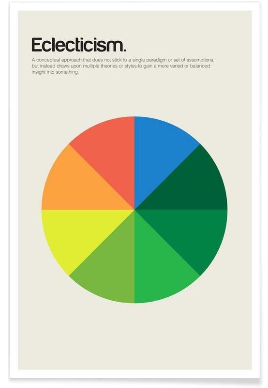 , Éclectisme - Definition minimaliste affiche
