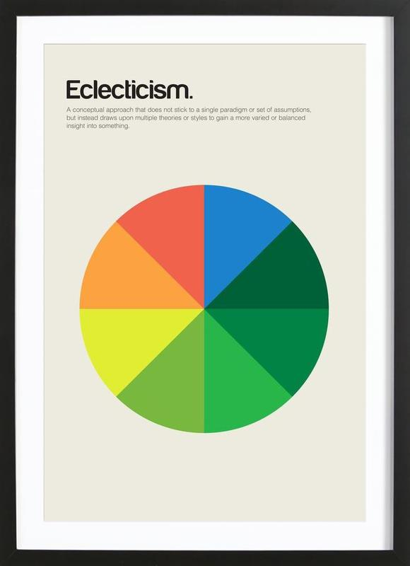 Eclecticism ingelijste print