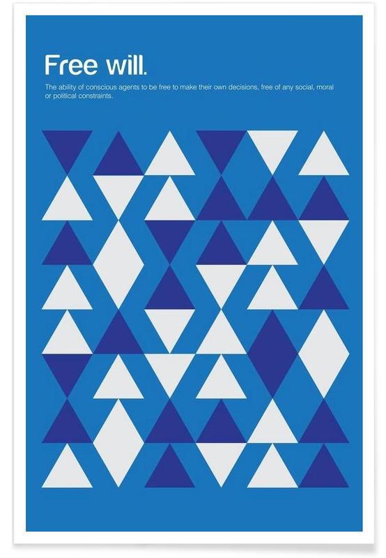 Libre arbitre - Definition minimaliste affiche