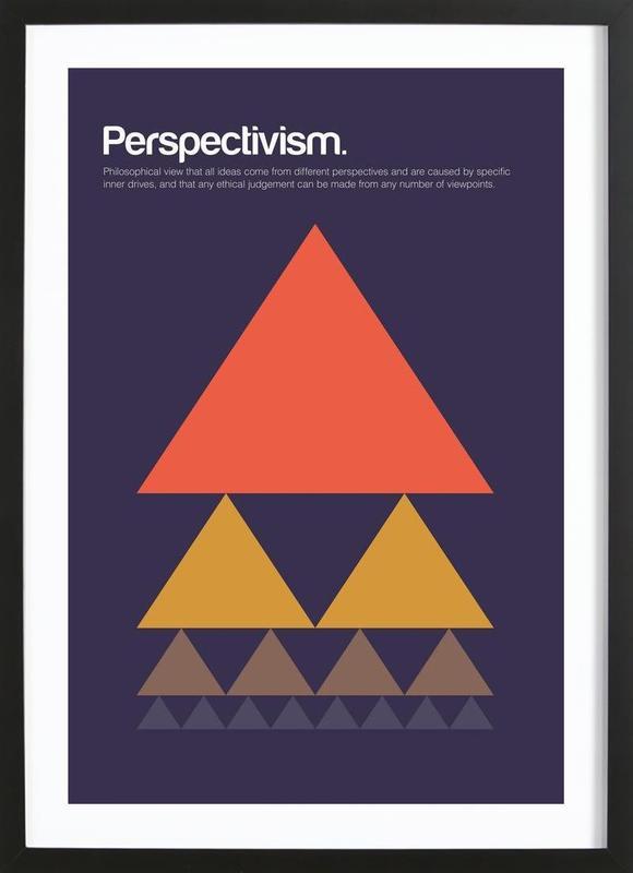 Perspectivism -Bild mit Holzrahmen