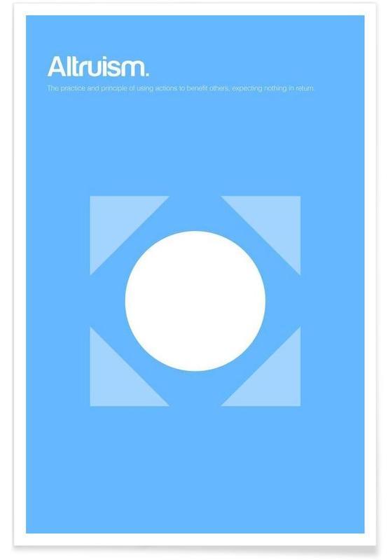 , Altruïsme - minimalistische definitie poster
