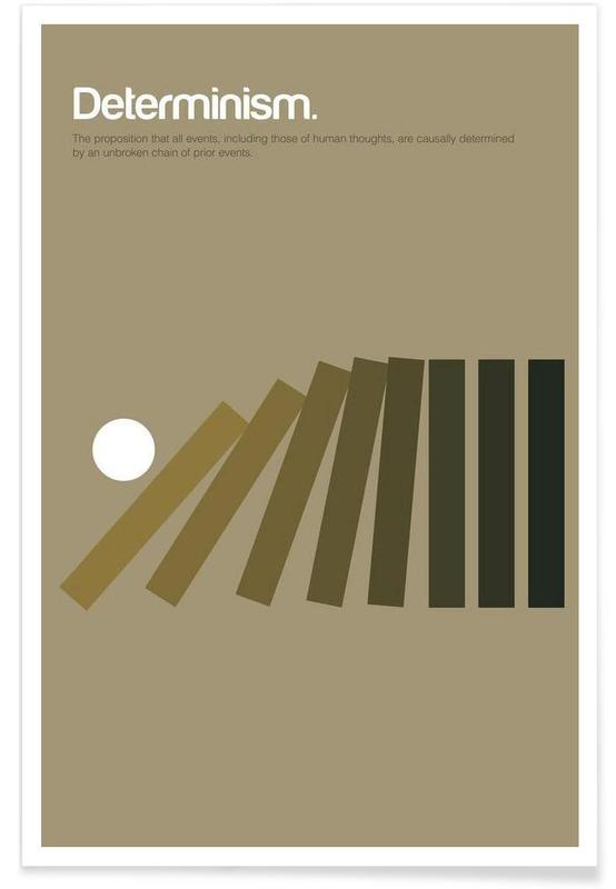 Determinisme - minimalistische definitie poster