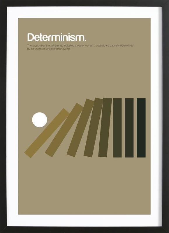 Determinism -Bild mit Holzrahmen