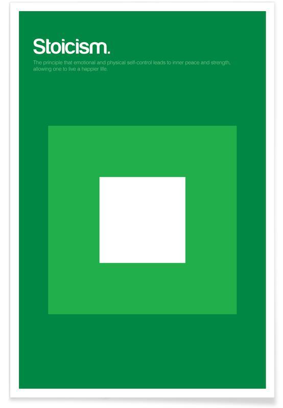 Stoizismus-Minimalistische Definition -Poster