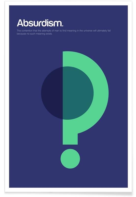 Symboles, Absurdité - Definition minimaliste affiche