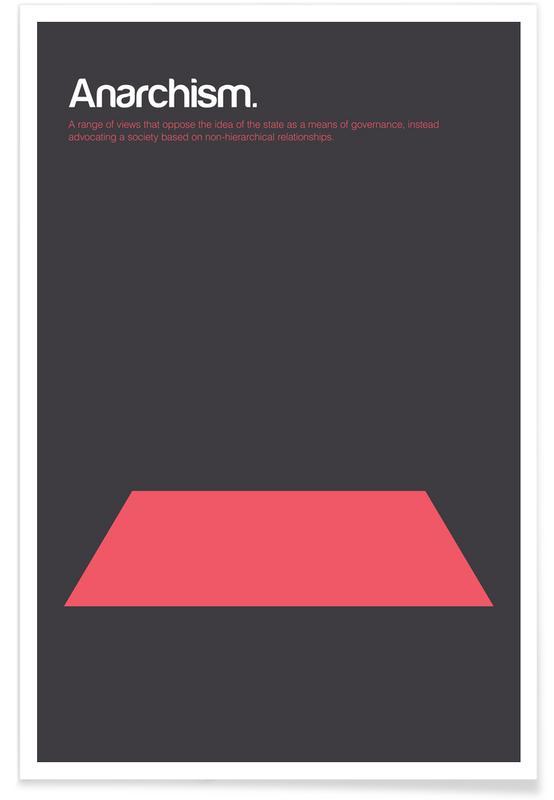 Anarchisme - Definition minimaliste affiche