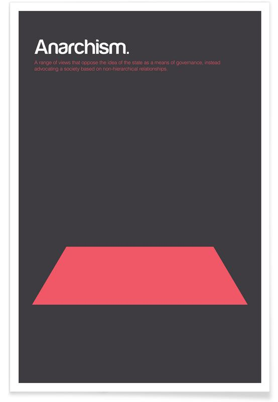 Anarchism - Minimalistic Definition Poster