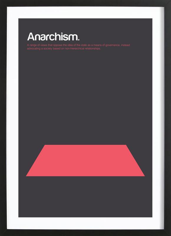 Anarchism ingelijste print