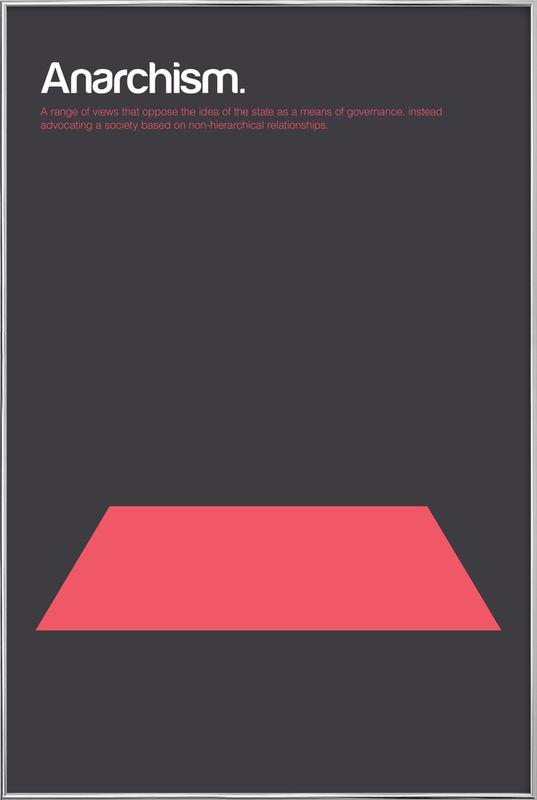 Anarchism Poster in Aluminium Frame