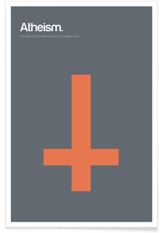 Symbols, Atheism - Minimalistic Definition Poster