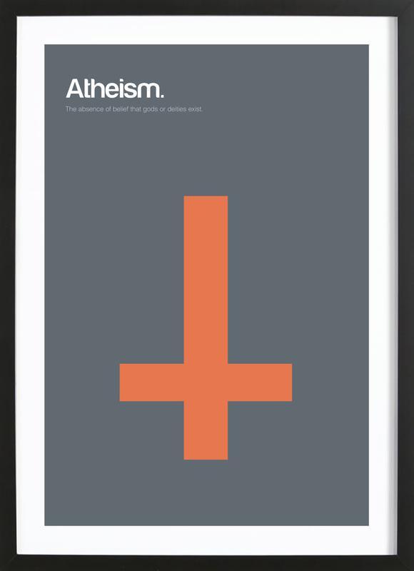 Atheism -Bild mit Holzrahmen