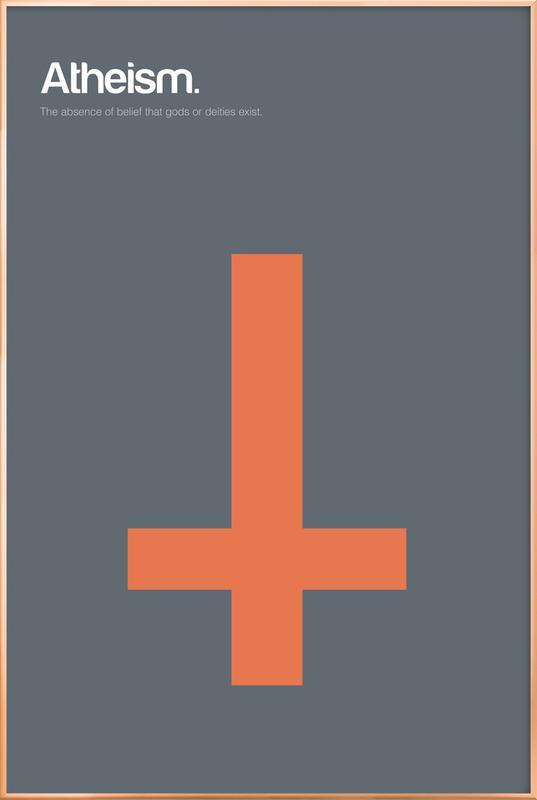 Atheism Poster in Aluminium Frame
