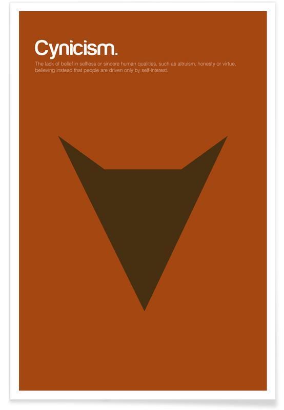 Cynisme - Definition minimaliste affiche