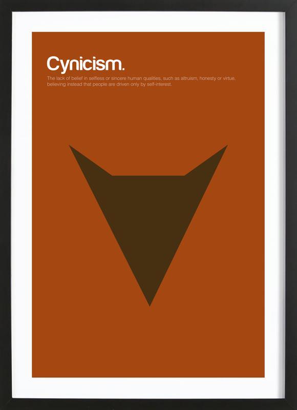 Cynicism affiche sous cadre en bois