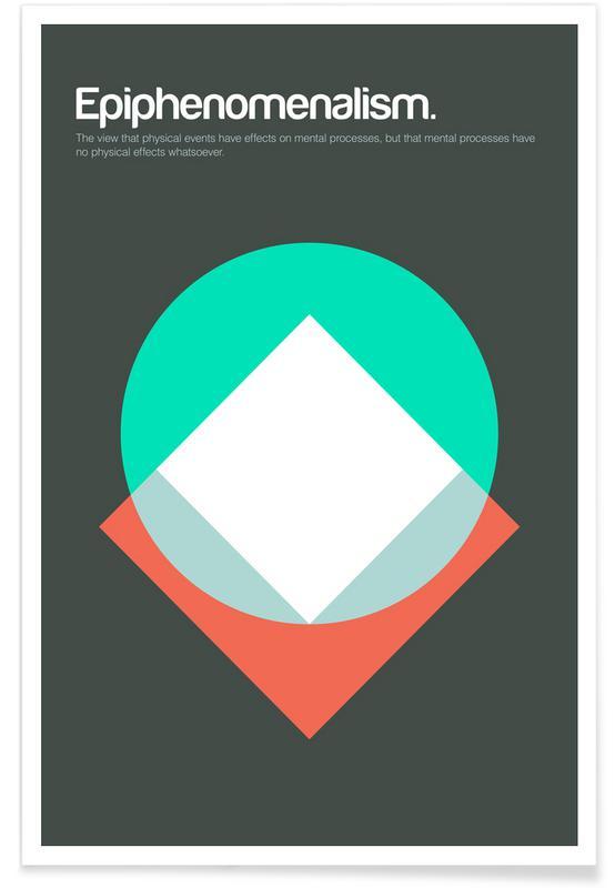 Épiphénoménisme - Definition minimaliste affiche