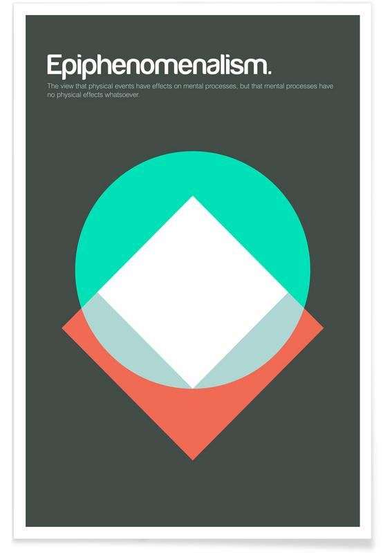 Epiphenomenalism - Minimalistic Definition Poster