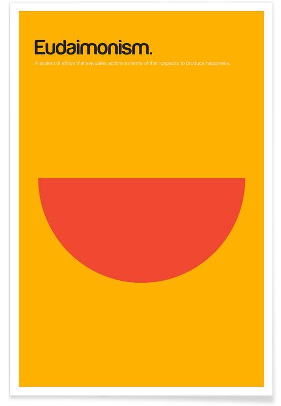 Eudémonisme - Definition minimaliste affiche