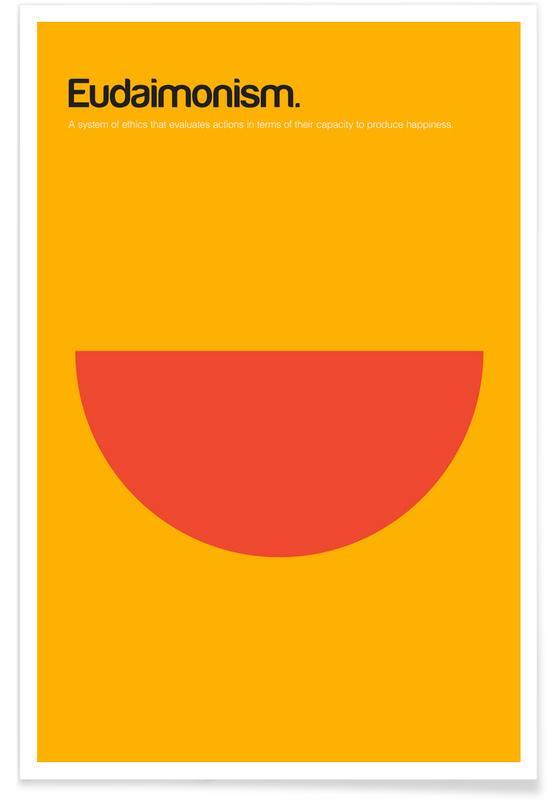 Symbolen, Eudaimonisme - minimalistische definitie poster