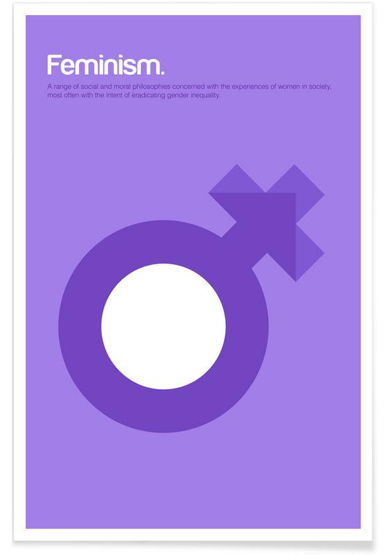 Feminisme - minimalistische definitie poster