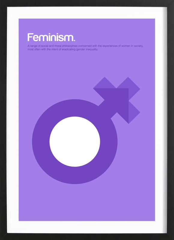 Feminism ingelijste print