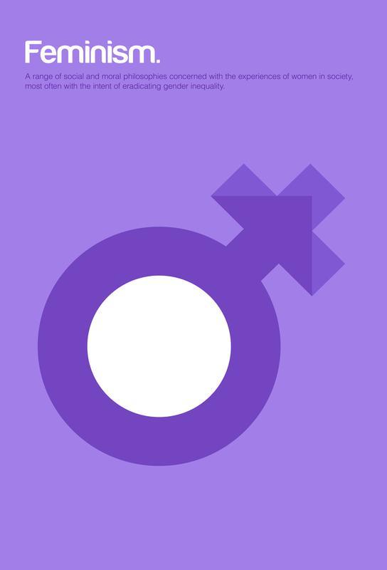 Feminism -Acrylglasbild
