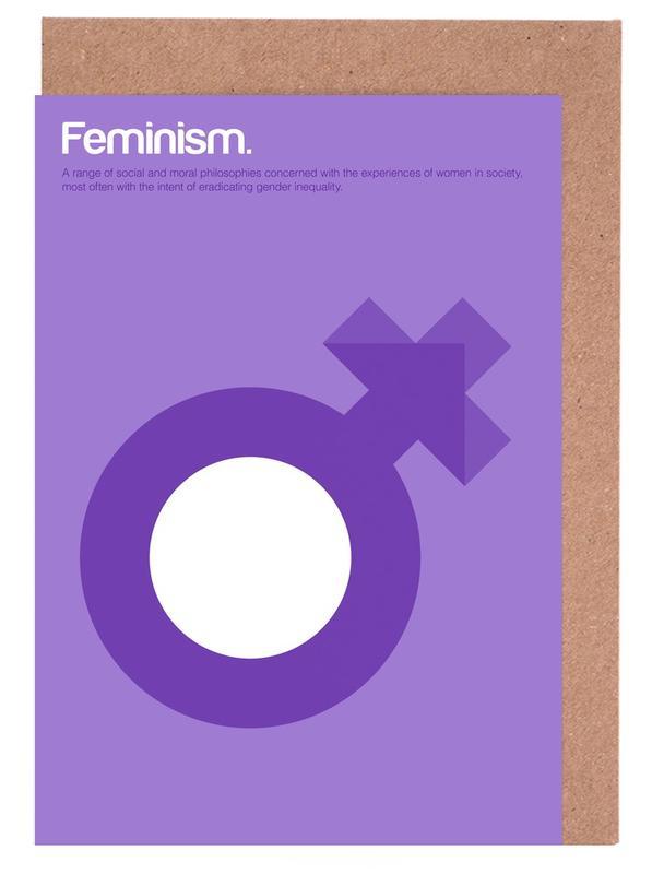 Feminism -Grußkarten-Set
