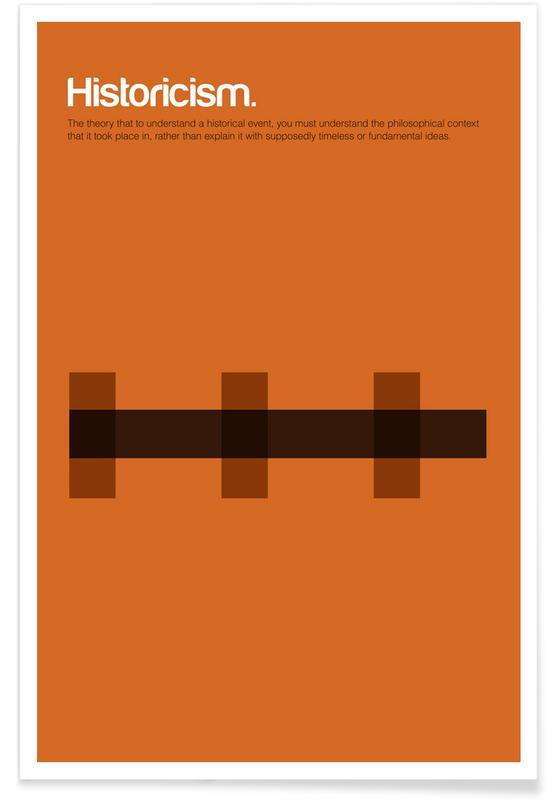 Historicism - Minimalistic Definition Poster