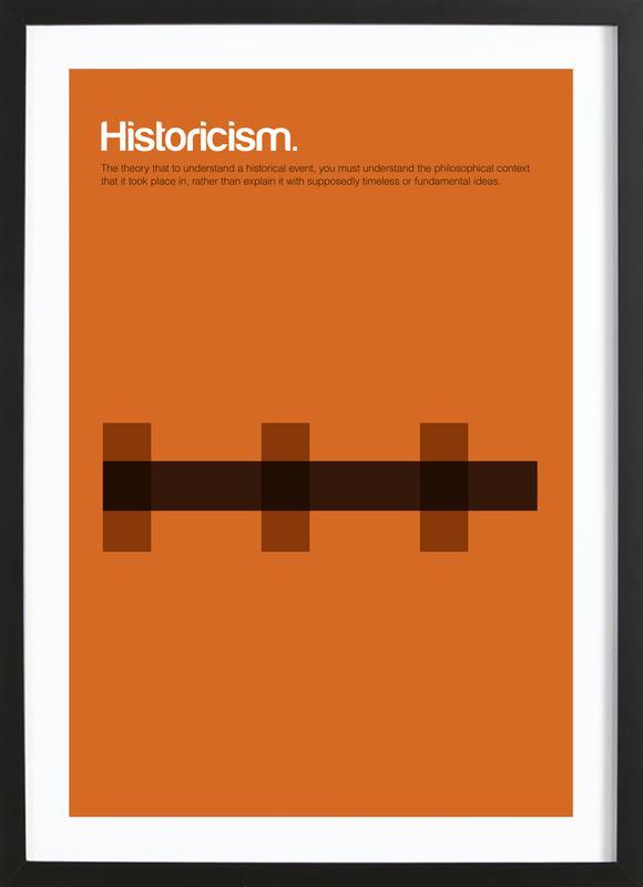 Historicism affiche sous cadre en bois