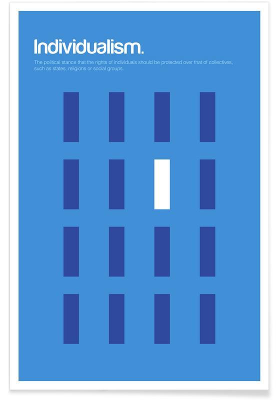 Symbolen, Individualisme - minimalistische definitie poster