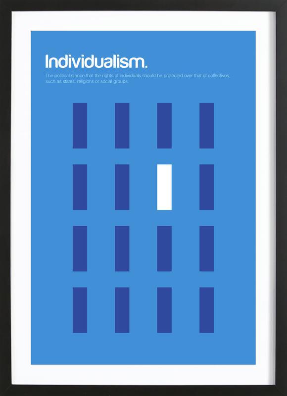 Individualism ingelijste print
