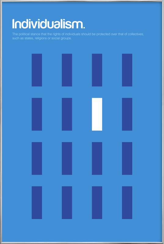Individualism affiche sous cadre en aluminium