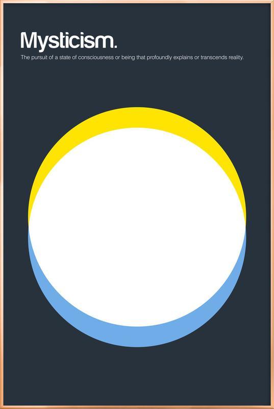 Mysticism -Poster im Alurahmen