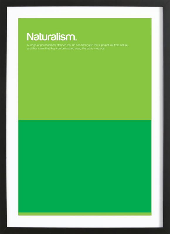 Naturalism affiche sous cadre en bois