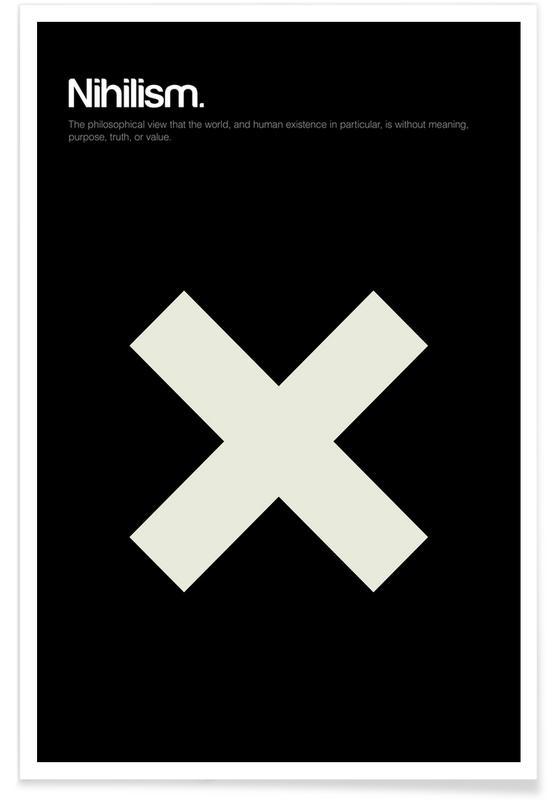 Symbolen, Nihilisme - minimalistische definitie poster