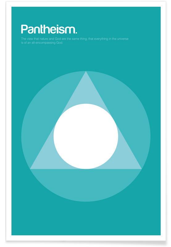 Symbole, Pantheismus-Minimalistische Definition -Poster