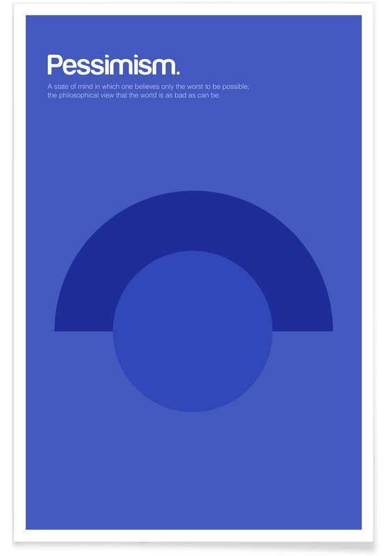 Symbole, Pessimismus-Minimalistische Definition -Poster